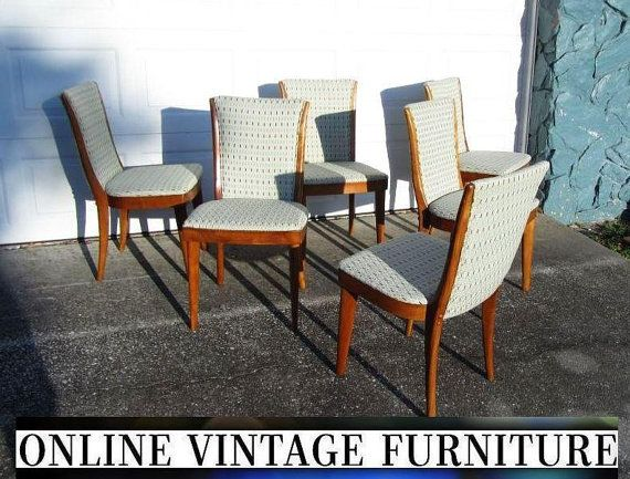 6 Restored Heywood Wakefield 1950S C157 Chairs Vintage Mid Century Interesting Dining Room Chairs Mid Century Modern Decorating Inspiration