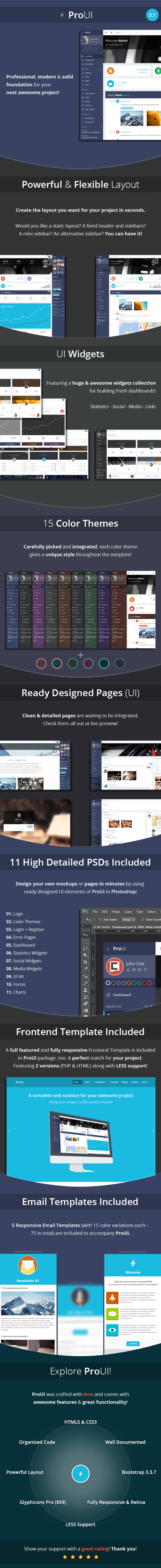 ProUI - Responsive Bootstrap Admin Template   Template