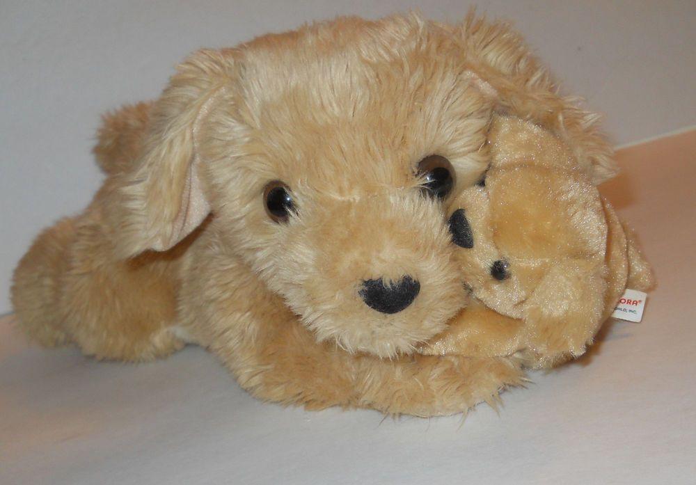 Golden Retriever Dog Mom Baby Puppy Plush Stuffed Toy Aurora 13