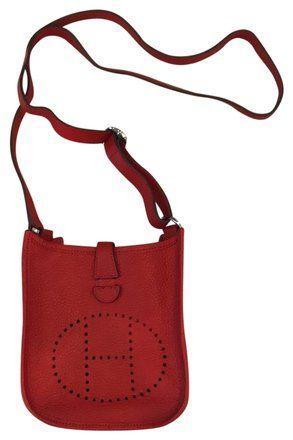 59968839632d Hermès Evelyne Tpm Mini Rouge Epsom Red Leather Cross Body Bag. Get the  trendiest Cross