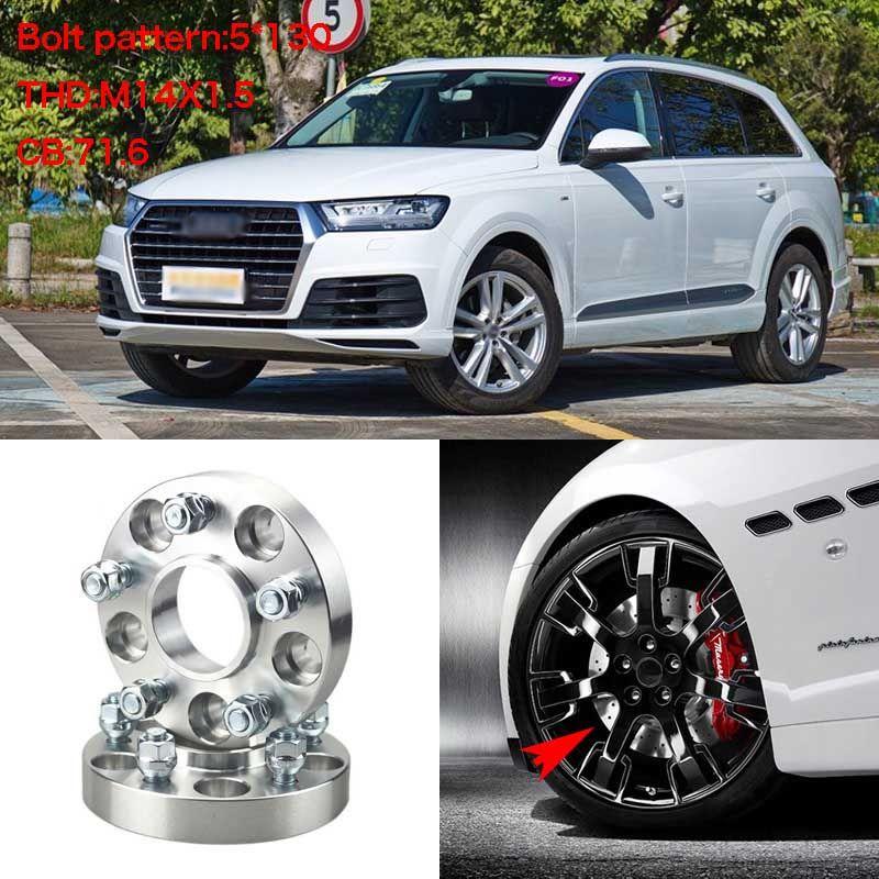 4pcs 1 Wheel Spacers Adapters 5 Lug 5x5 1 5x130 14x1 5 Studs For Audi Q7 2006 2014 Cheap Wheels Audi A1 Audi
