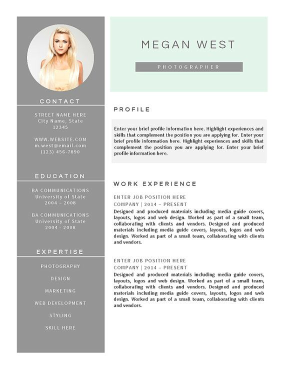 resume template for word    cv template plus cover by resumemouse