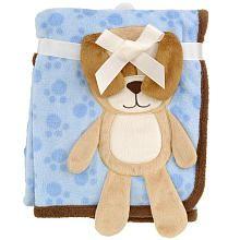 "Babies R Us 3D Puppy Blanket - Blue - 30"" x 40"""