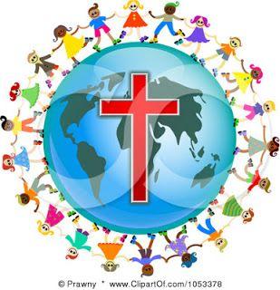 free clip art illustration christian kids holding hands around globe rh pinterest com Free Christian Clip Art for Bulletins Free Christian Background Clip Art