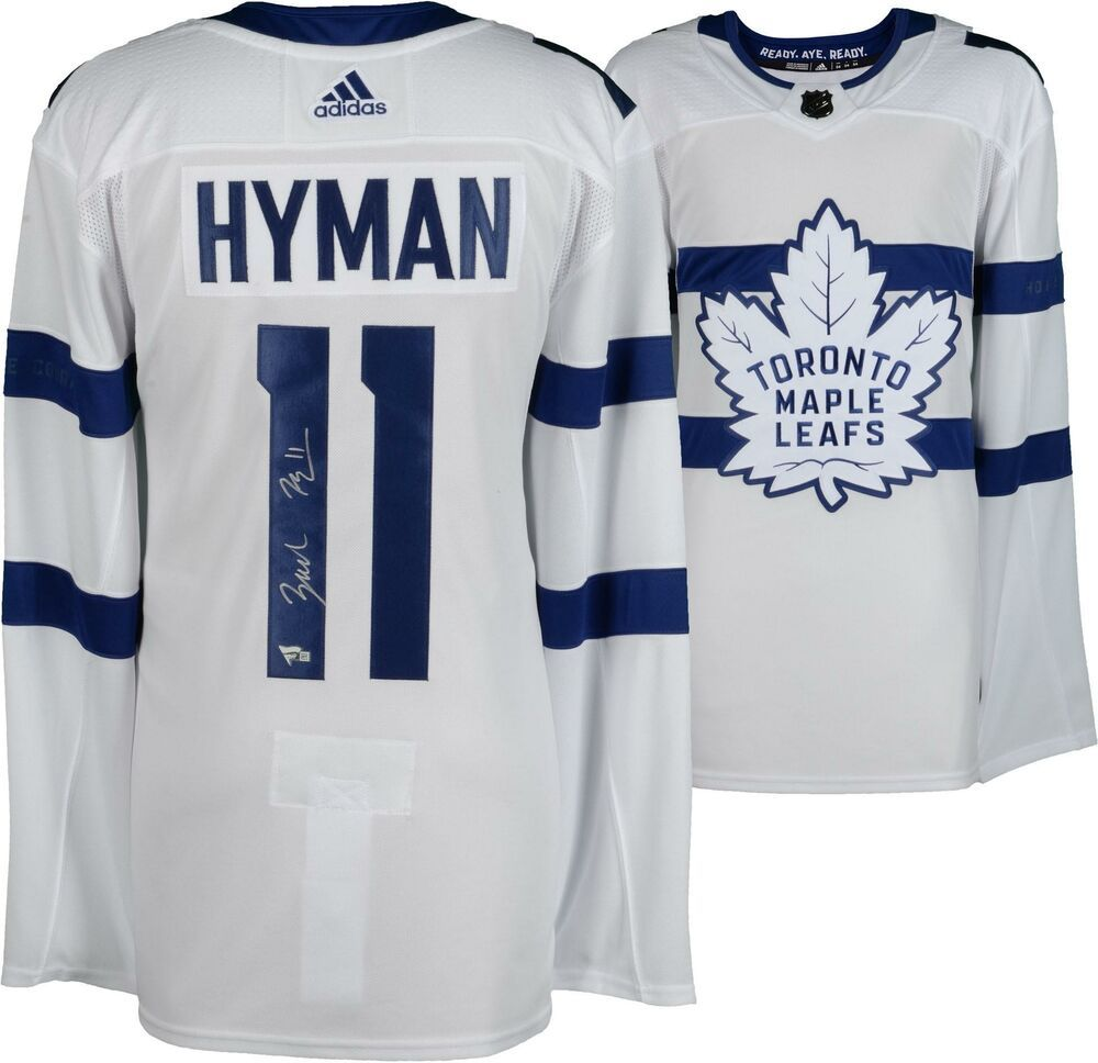100% authentic eaf43 b22cf Zach Hyman Toronto Maple Leafs Signed 2018 Stadium Series ...