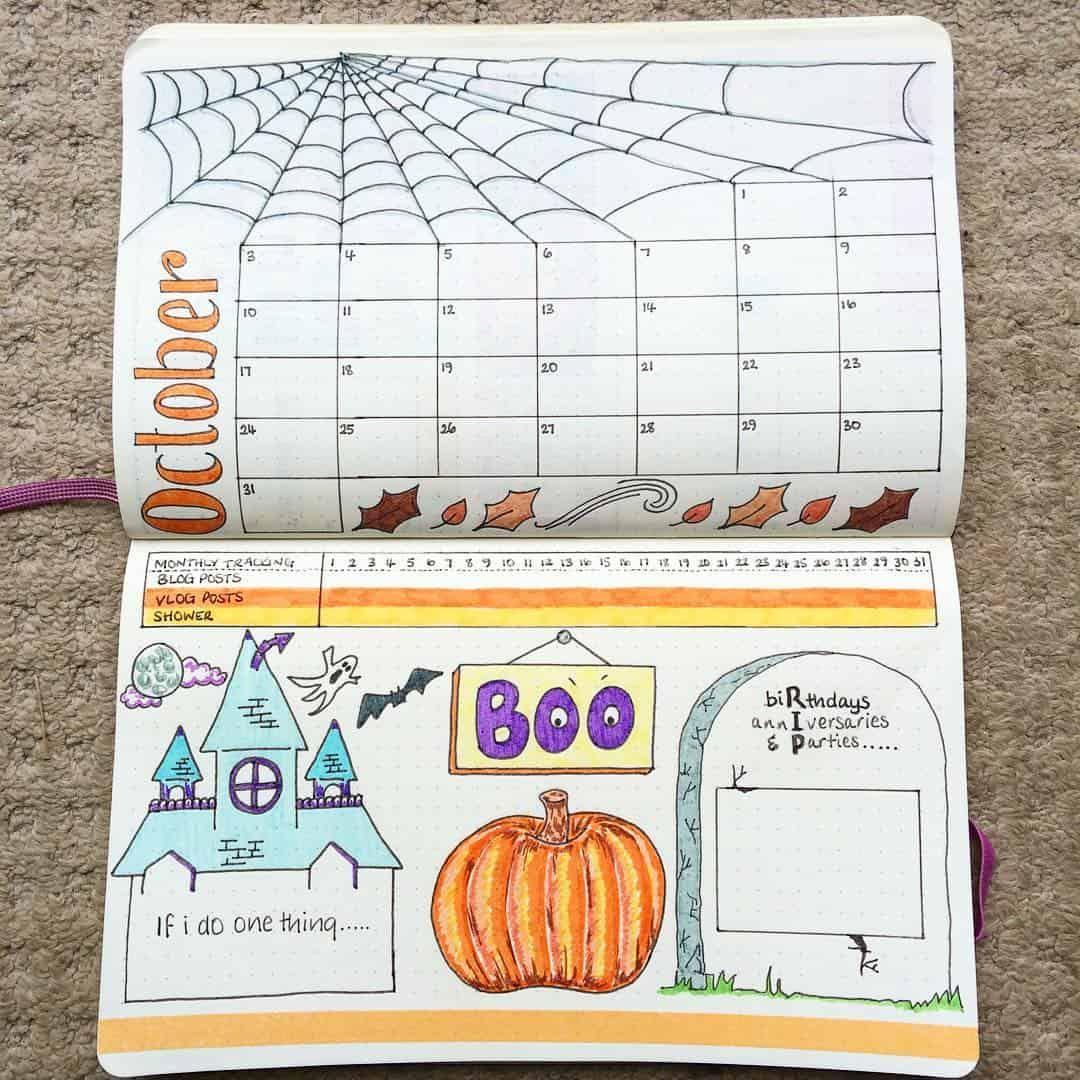 Halloween 30 Oktober.29 Spooky Halloween Bullet Journal Layouts And Spreads