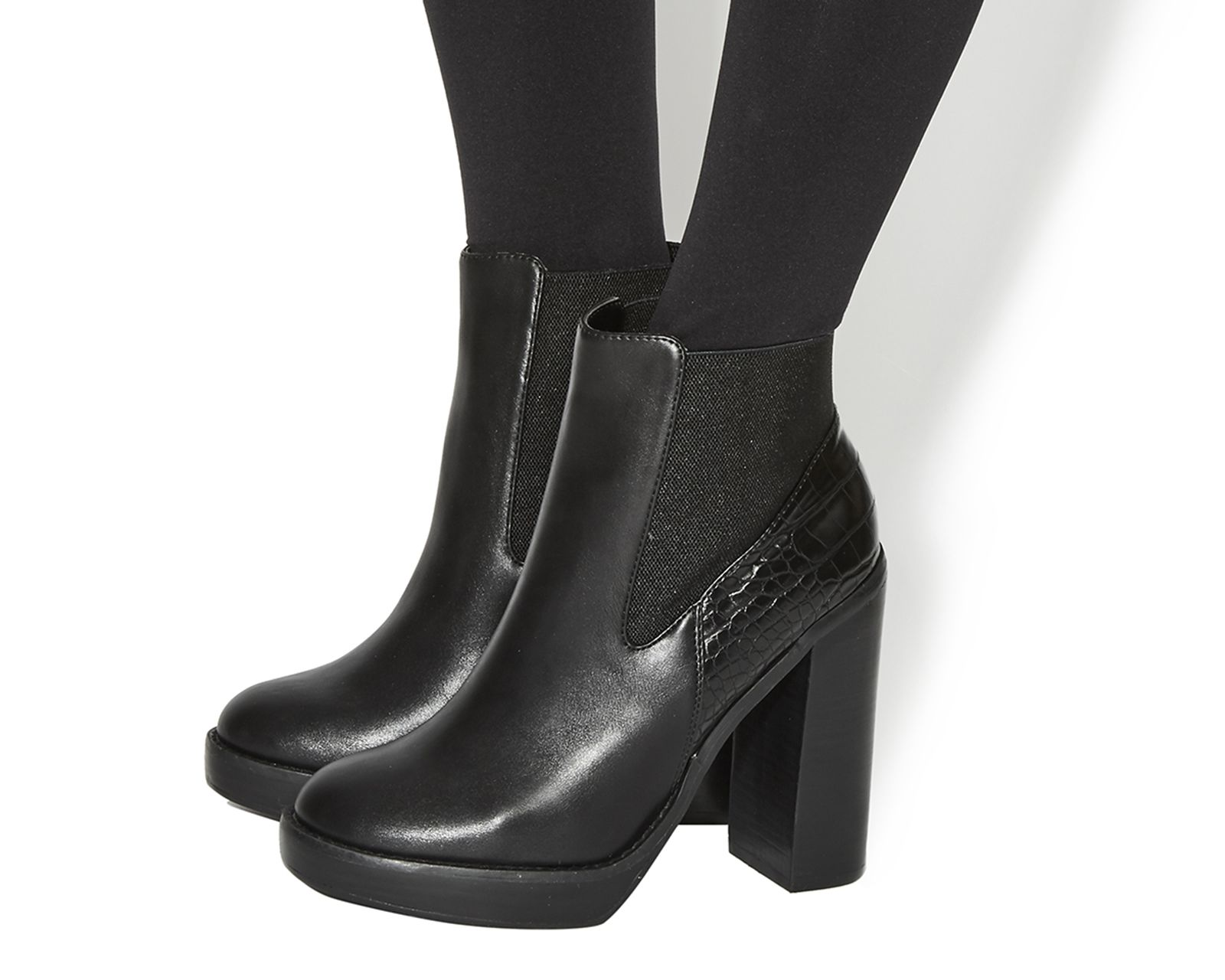 Buy Black Box Office Imogen High Cut Chelsea Boots from OFFICE.co.uk.