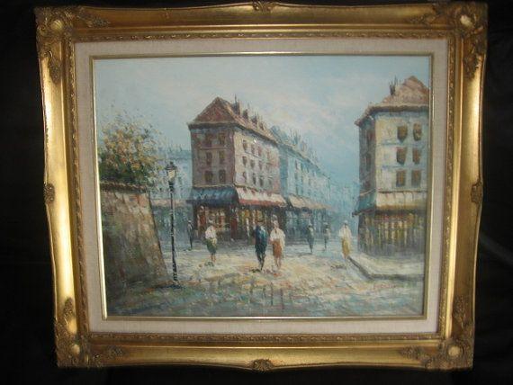 Vintage Original Oil Painting Signed Burnet
