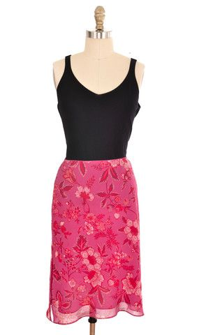Express Floral Print Knee Length Skirt Size Small Skirt | ClosetDash #fashion #style #skirts