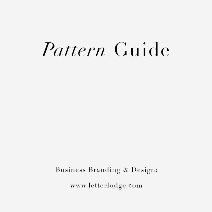 Pattern Guide for your project by Letter Lodge www.letterlodge.com