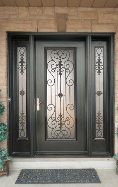 Puertas de metal para entrada principal