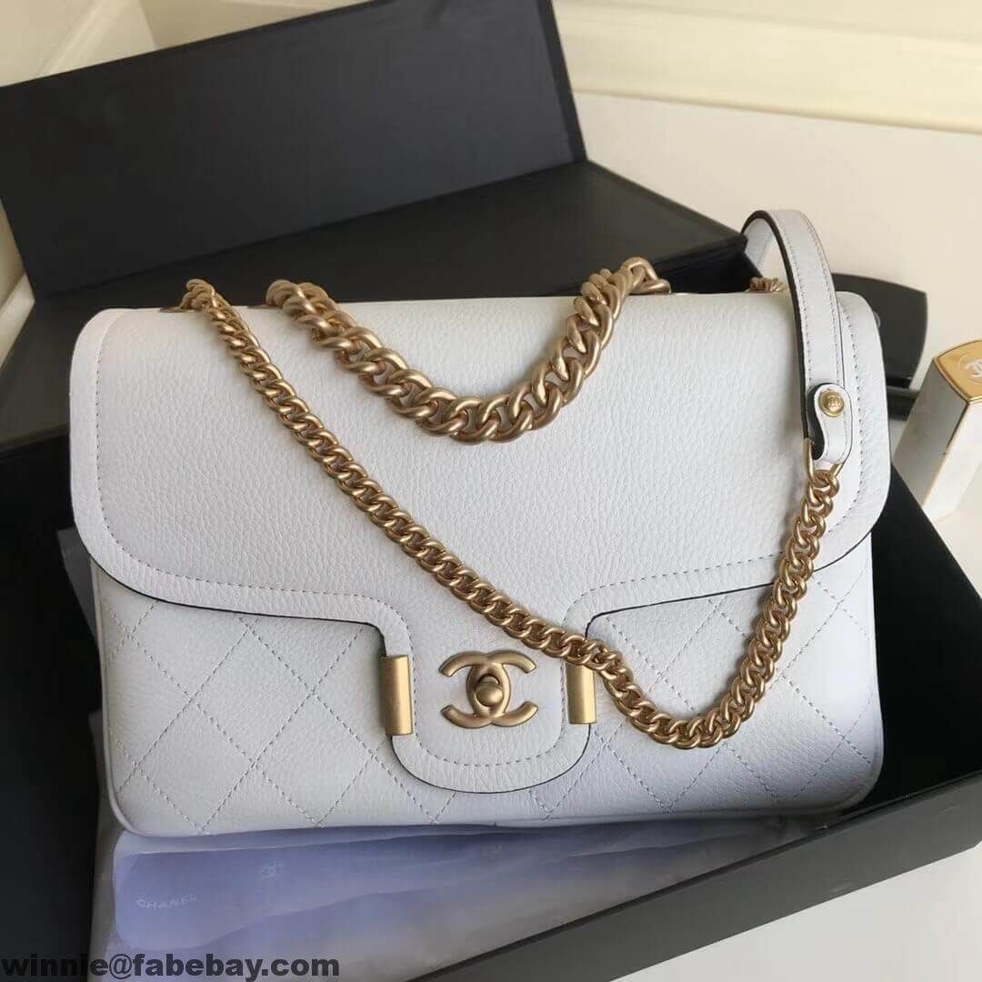 084ebd6bea7a Chanel Grained Calfskin Large Archi Chic Flap Bag 2018 | Arm candies ...