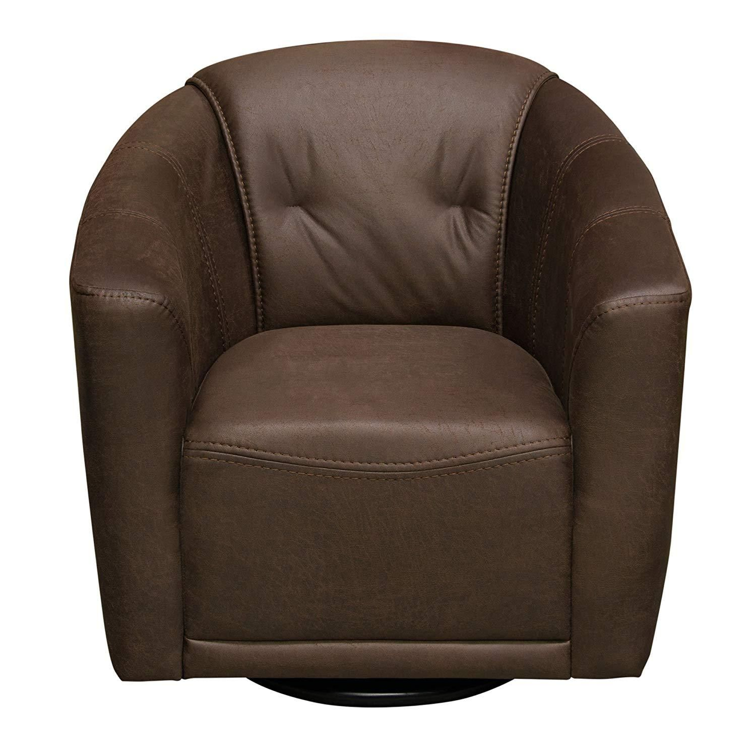 Astonishing Diamond Sofa Swivel Accent Chair In Chocolate Brown Fabric Pabps2019 Chair Design Images Pabps2019Com