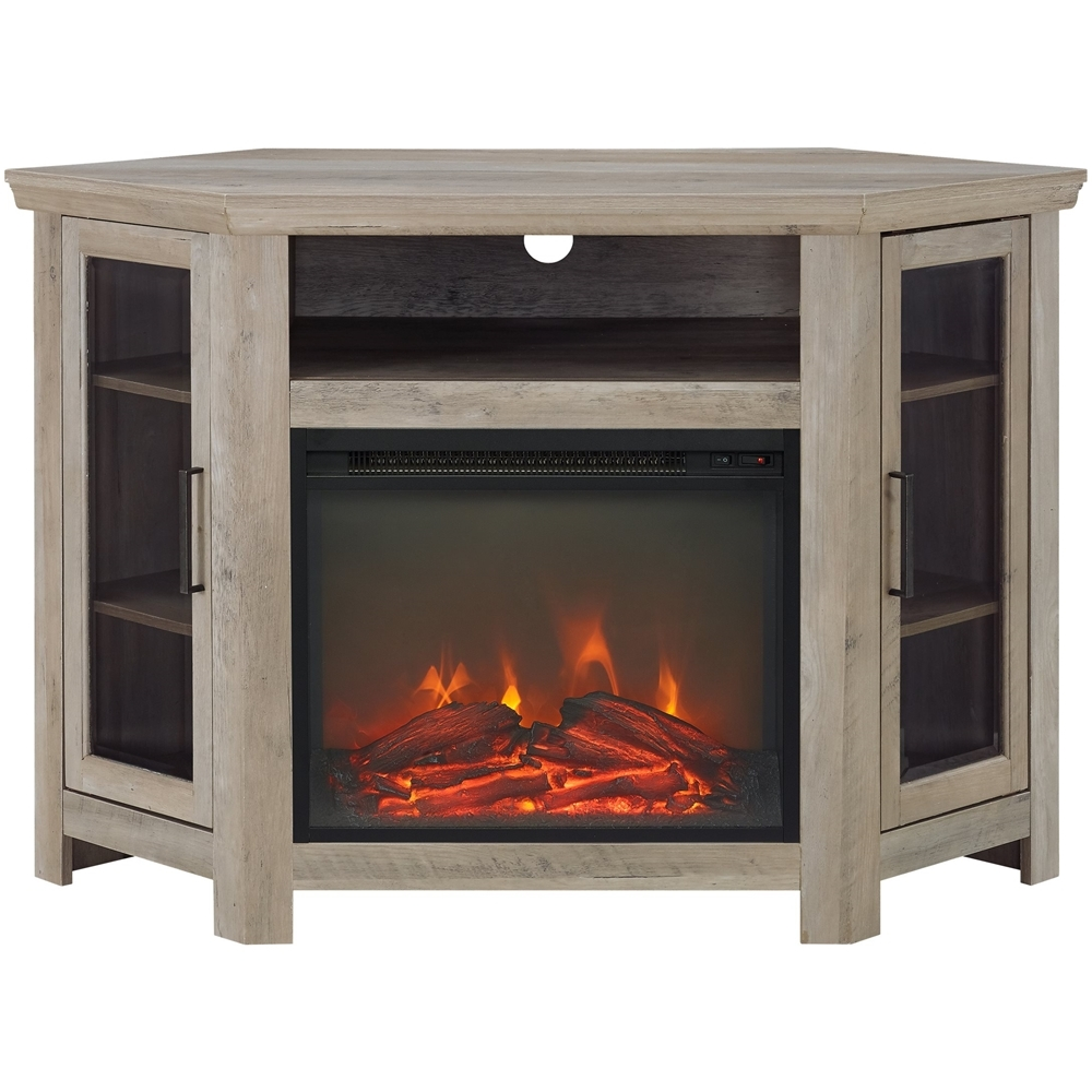 Walker Edison Tv Cabinet For Most Tvs Up To 50 Gray Wash In