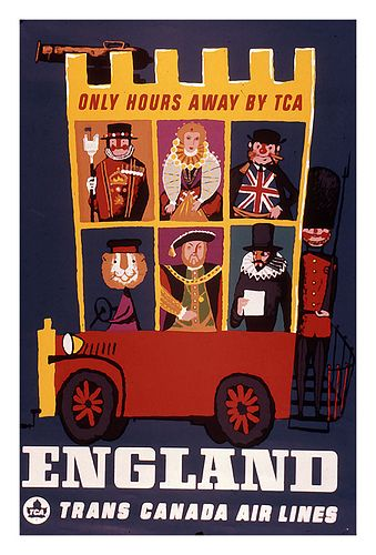 Trans Canada Airlines Travel Poster - London