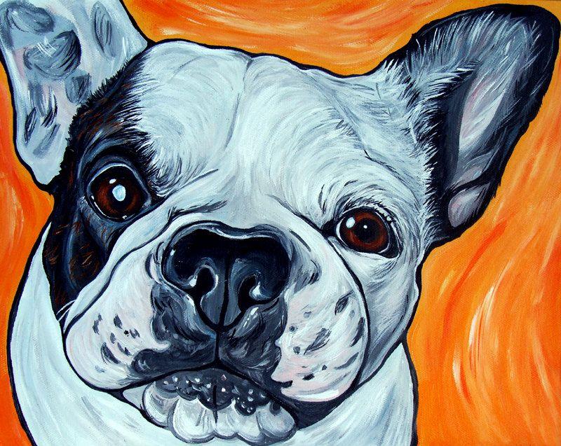 art gift idea hand painted cute gift acrylic 11 x 14 Custom Pet Portrait Painting pet dog portrait custom animal painting