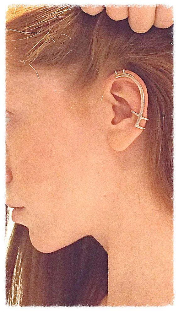 Hammered Ear Cuff Minimalist By Sashawalshdesigns On Etsy Aros