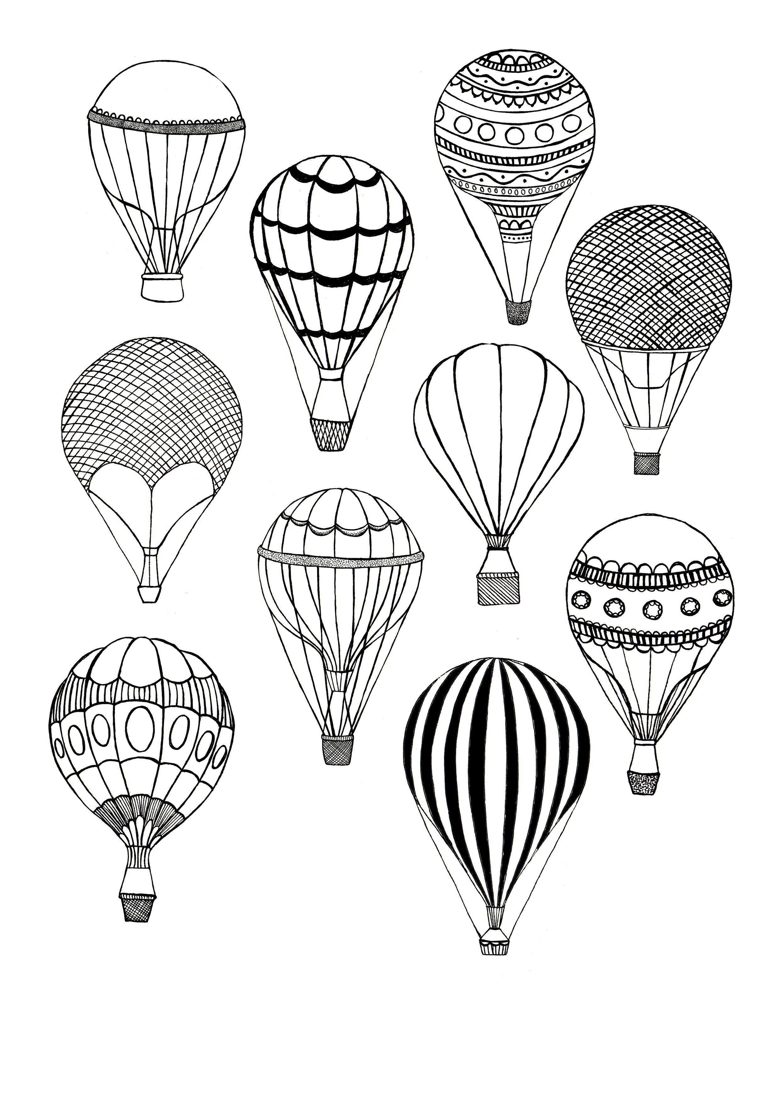 Hot Air Balloons Leah Trengove Balloon Illustration Air Balloon Tattoo Balloon Tattoo