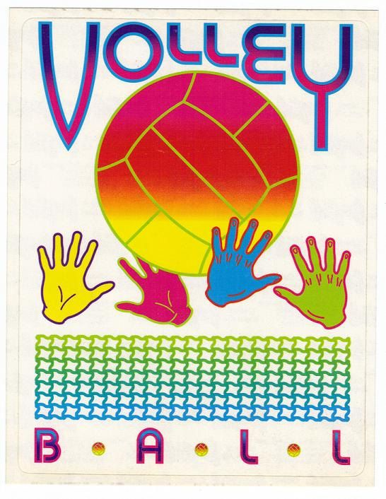 RARE Vintage Lisa Frank Large Jumbo Volley Ball Sticker