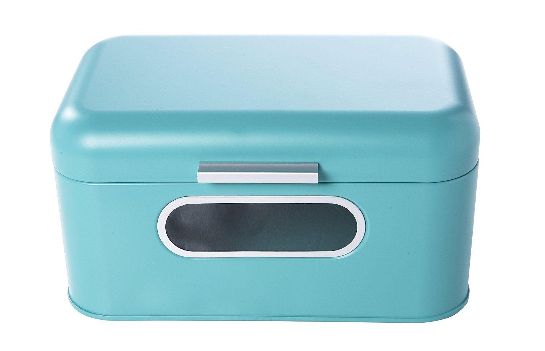 Turquoise Bread Box Amazonsmile Bread Box For Kitchen  Bread Bin Storage Container For