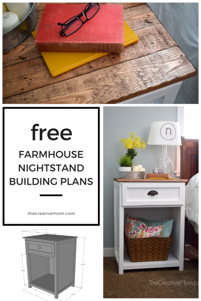 Farmhouse Nightstand Free Building Plans Joanna Gaines Would Love This Fixer Upper Style Bedside Table Get The