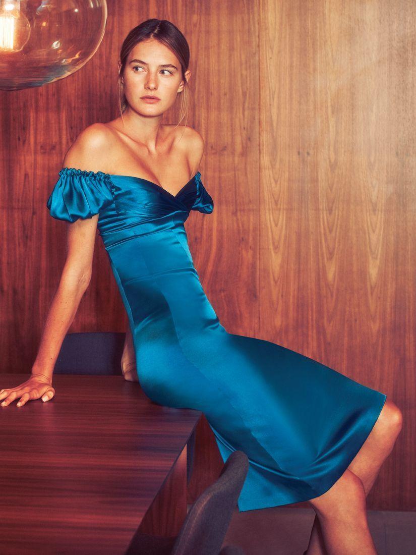 Cadiz Dress Capri Blue Dresses Blue Midi Dress Silk Midi Dress