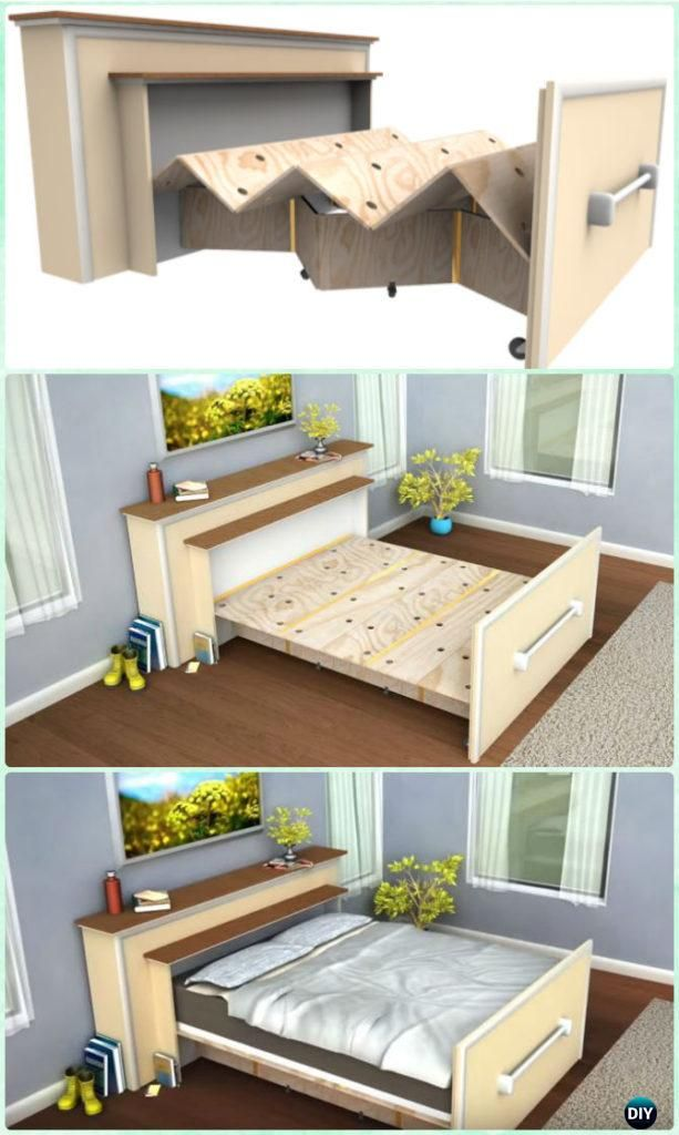 Diy Space Saving Bed Frame Design Free Plans Instructions Bed