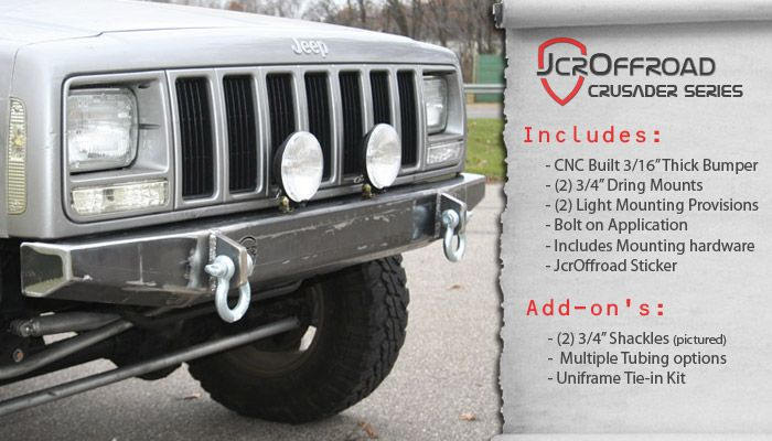 Jeep Cherokee Front Bumper Crusader Jeep Xj 84 01