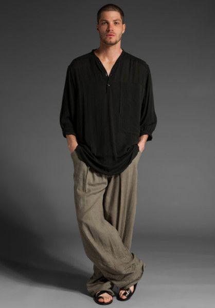 da89c78731f3 Endovanera Samurai Pant in Green for Men (olive) - Lyst-- the pants I would  buy if the universe was in alignment and it was forever the 1990s