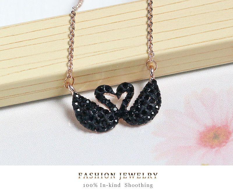 Fashion jewelry black swan crystal lover rose gold necklace for fashion jewelry black swan crystal lover rose gold necklace for women necklaces pendants girls gifts 3 aloadofball Gallery