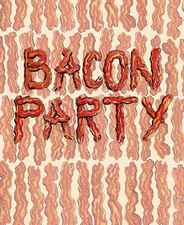 zokayillustrations created one of the illustrations that will be featured  at #TheBaconPartyPDX on Thursday! There's …   Bacon party, Bacon recipes,  Instagram posts