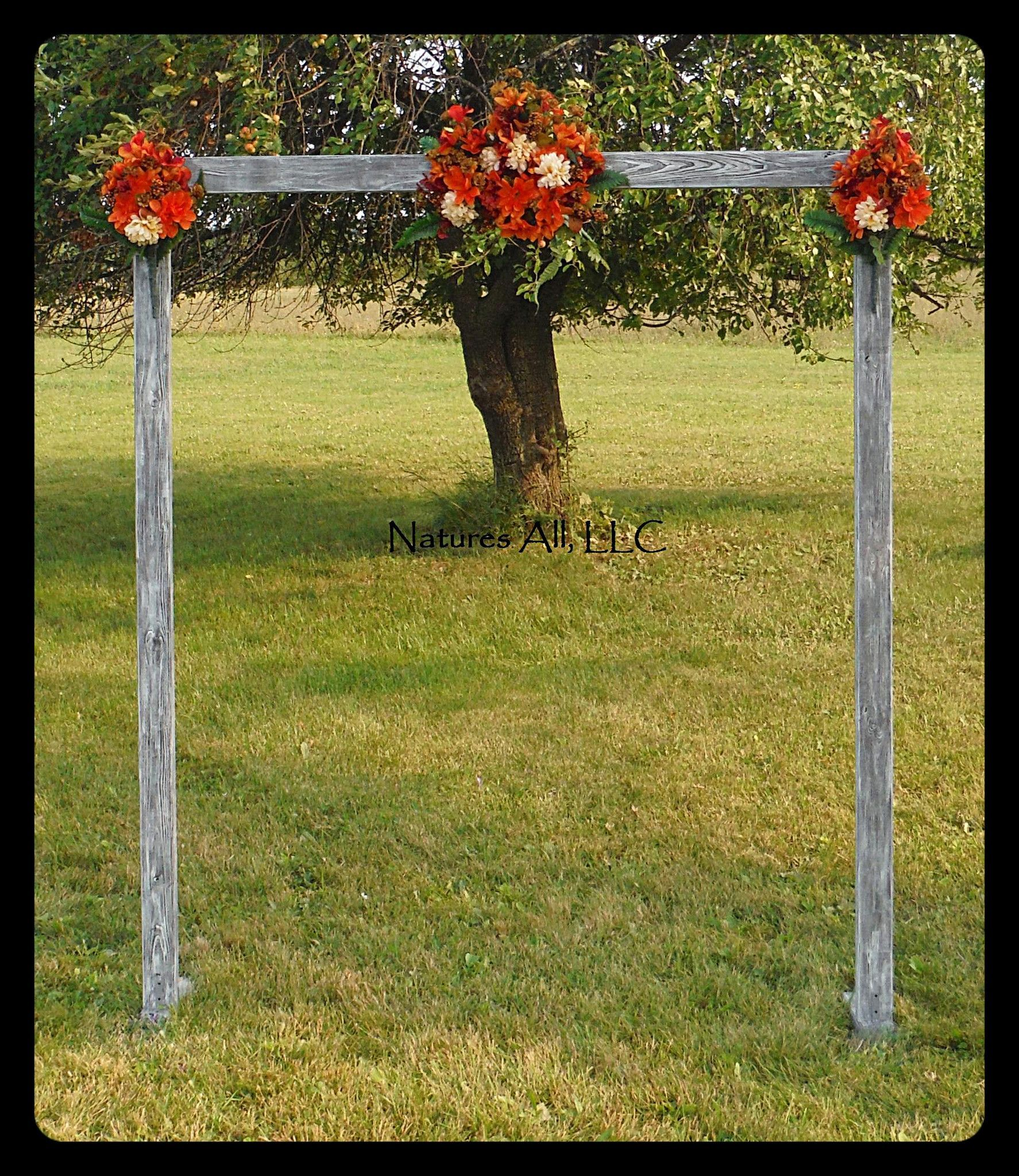 Rustic Wood Wedding Arch Arbor Complete Kit For Indoor Or Outdoor Use Country Backdrop Weathered Gray Shipping Included