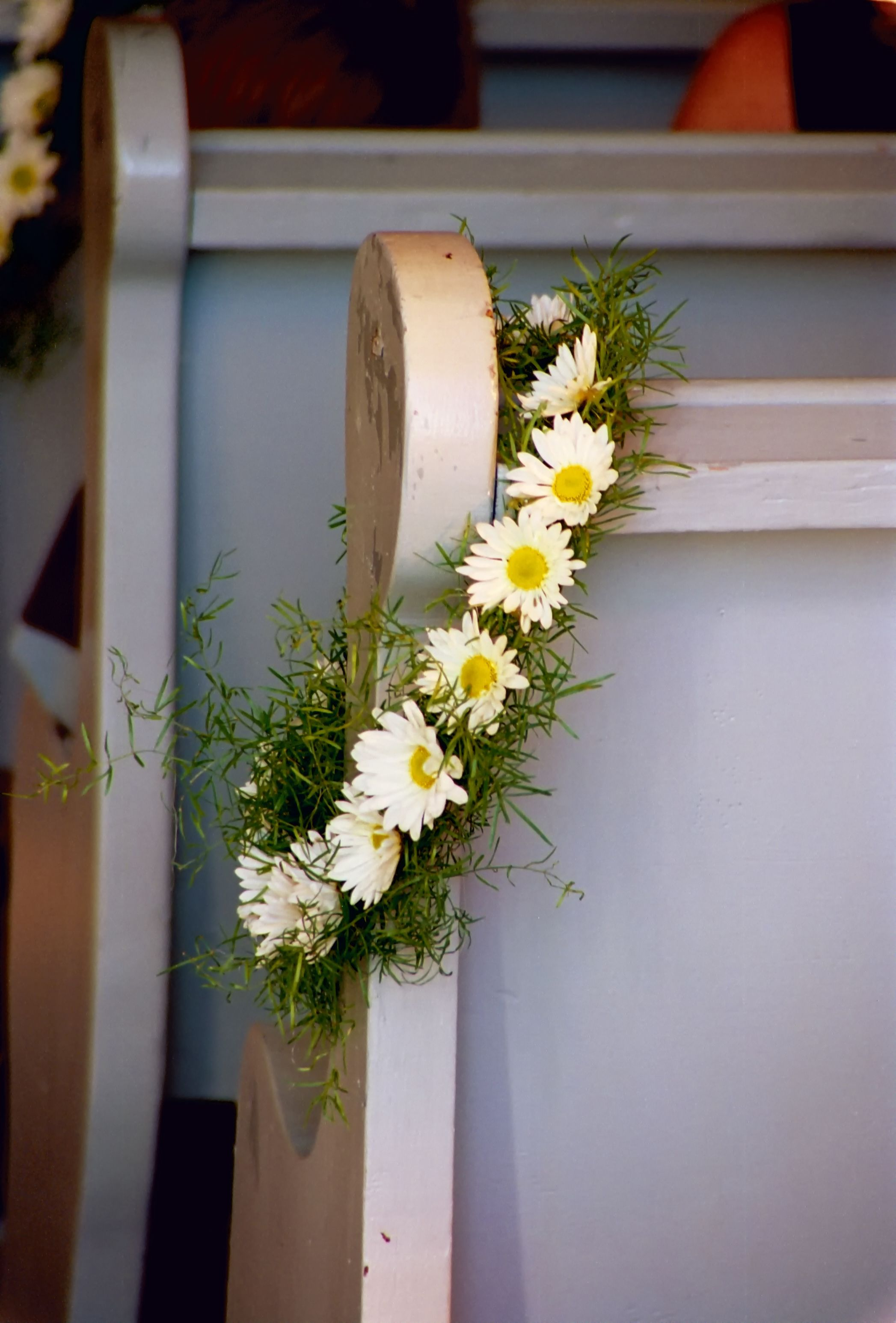 Church Pew Decoration Could Be Used As Part Of The Centre Piece As