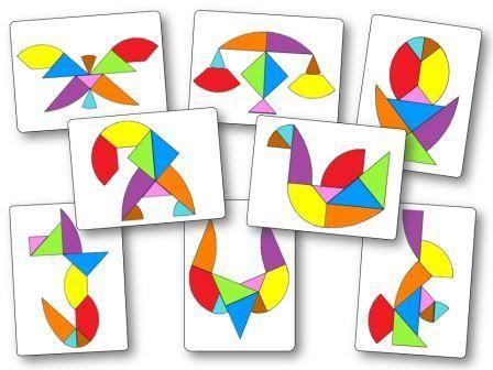 Tangram œuf : 48 modèles à imprimer - Modèles Tangram oeuf à imprimer | Tangram imprimable ...