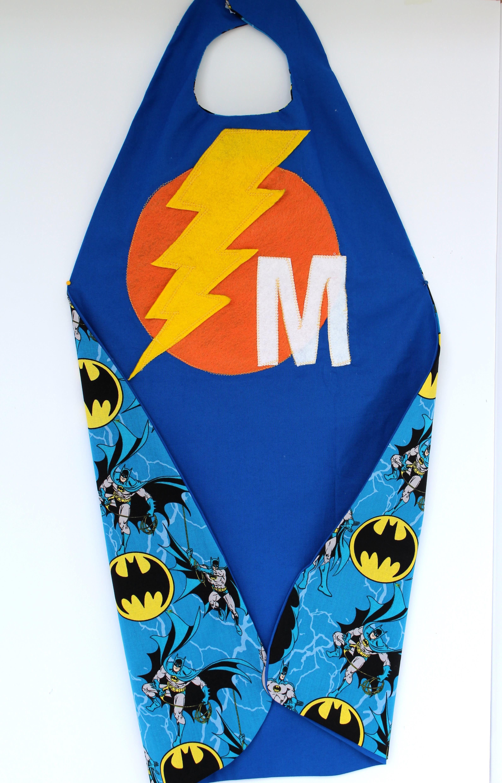 Super Hero Kids Cape - Blue - Reversible - Personalized