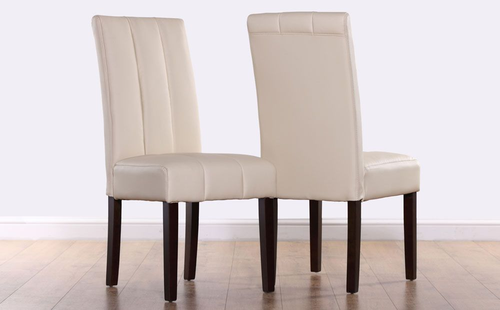 Carrick Ivory Leather Dining Chair Wenge Leg Only 59 99