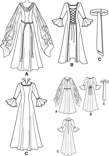 Lovely Medieval Dress/Gown SEWING PATTERN Arwen/LOTR | Arwen ...