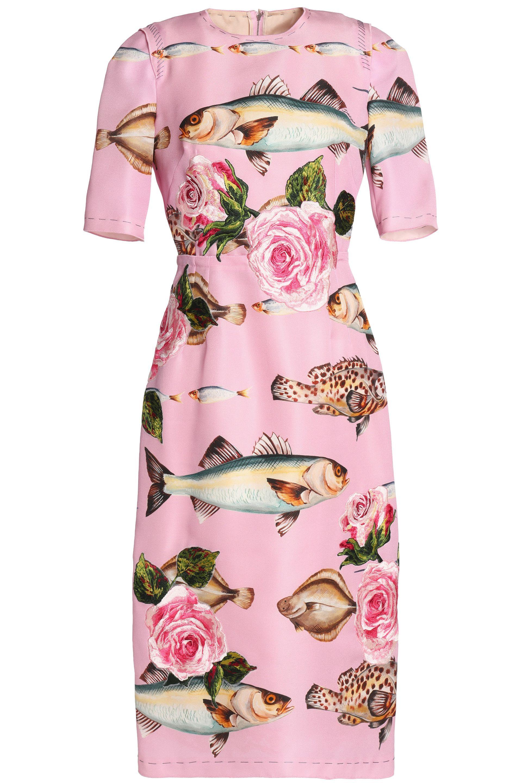 bf964efd66f Printed silk-organza midi dress | DOLCE & GABBANA | Sale up to 70% off |  THE OUTNET