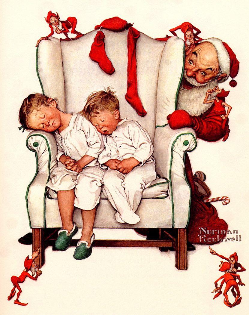 Santa - Norman Rockwell | norman | Pinterest | Norman rockwell ...