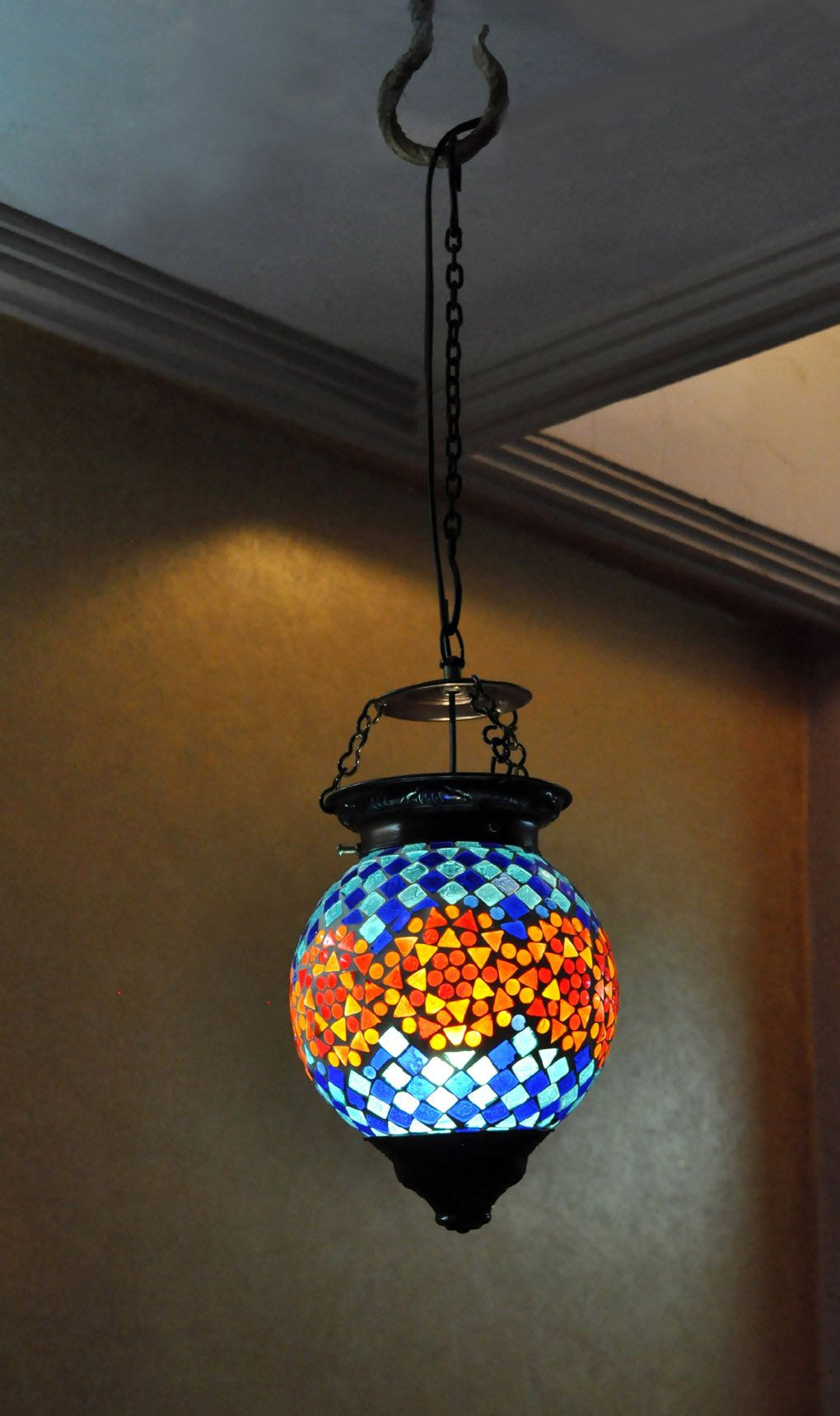 Housewarming Gift Multicolor 3-Lights Chandelier Elephant Metal Fitting Hanging Down Lamps