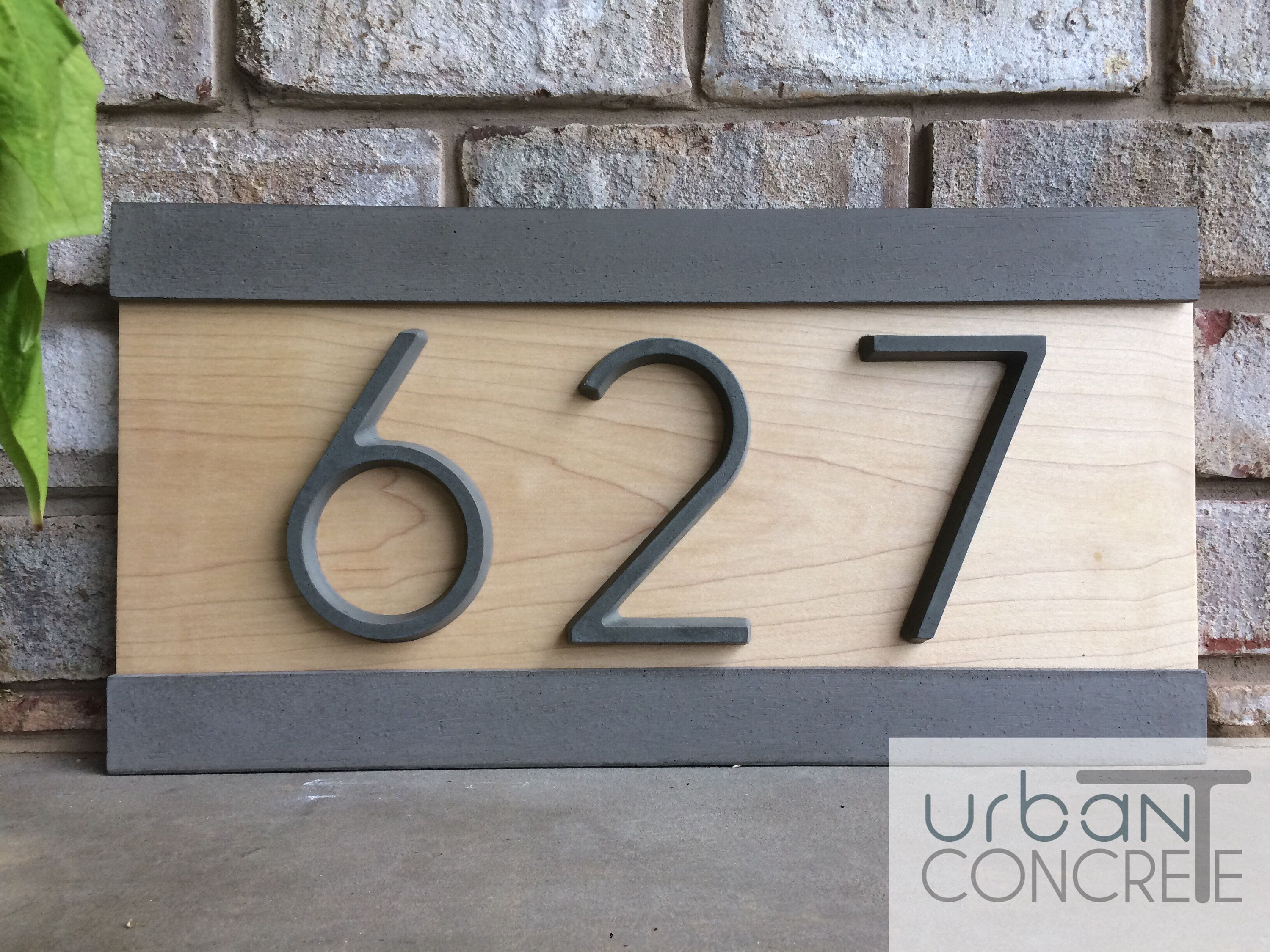 Mid Century Modern Address Sign House Numbers Diy Diy Address Sign House Number Sign
