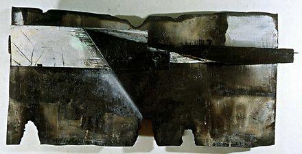 El vigia (NYC 1991) Escultura en madera, metal y grafito - Celis Pérez (Argentina 1939-2008)