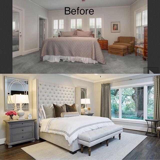 Love The After Result Master Bedroom Remodel Bedroom Small Master Bedroom Master Bedroom Makeover