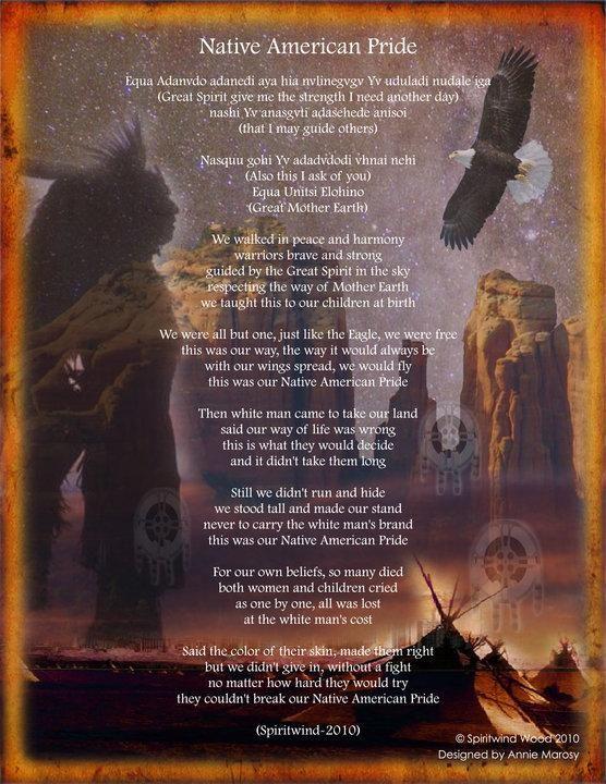 native american poems | Native American Pride] Native American ...