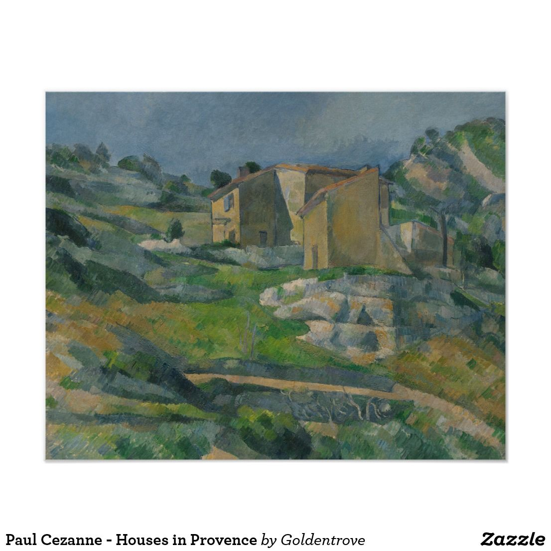 Paul Cezanne Houses In Provence Poster Zazzle Com Paul Cezanne Cezanne Art Paul Cezanne Paintings