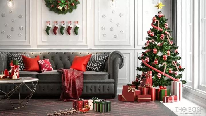 79 Festive Christmas Zoom Backgrounds Christmas Living Rooms Christmas Home Home Decor