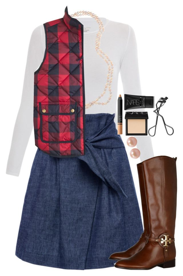 """""""2 followers to 900!!!! Let's get there!!"""" by mac-moses ❤ liked on Polyvore featuring Majestic, MSGM, Carolee, J.Crew, Tory Burch, Honora and NARS Cosmetics"""