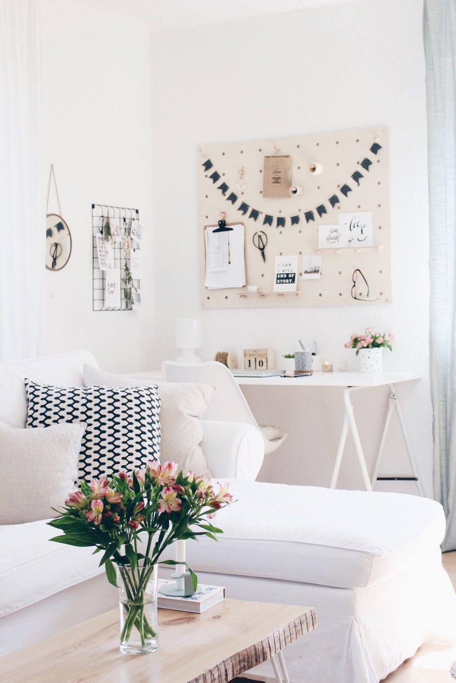 arbeitsecke im wohnbereich boho and nordic pinterest wohnen arbeit und wohnbereich. Black Bedroom Furniture Sets. Home Design Ideas