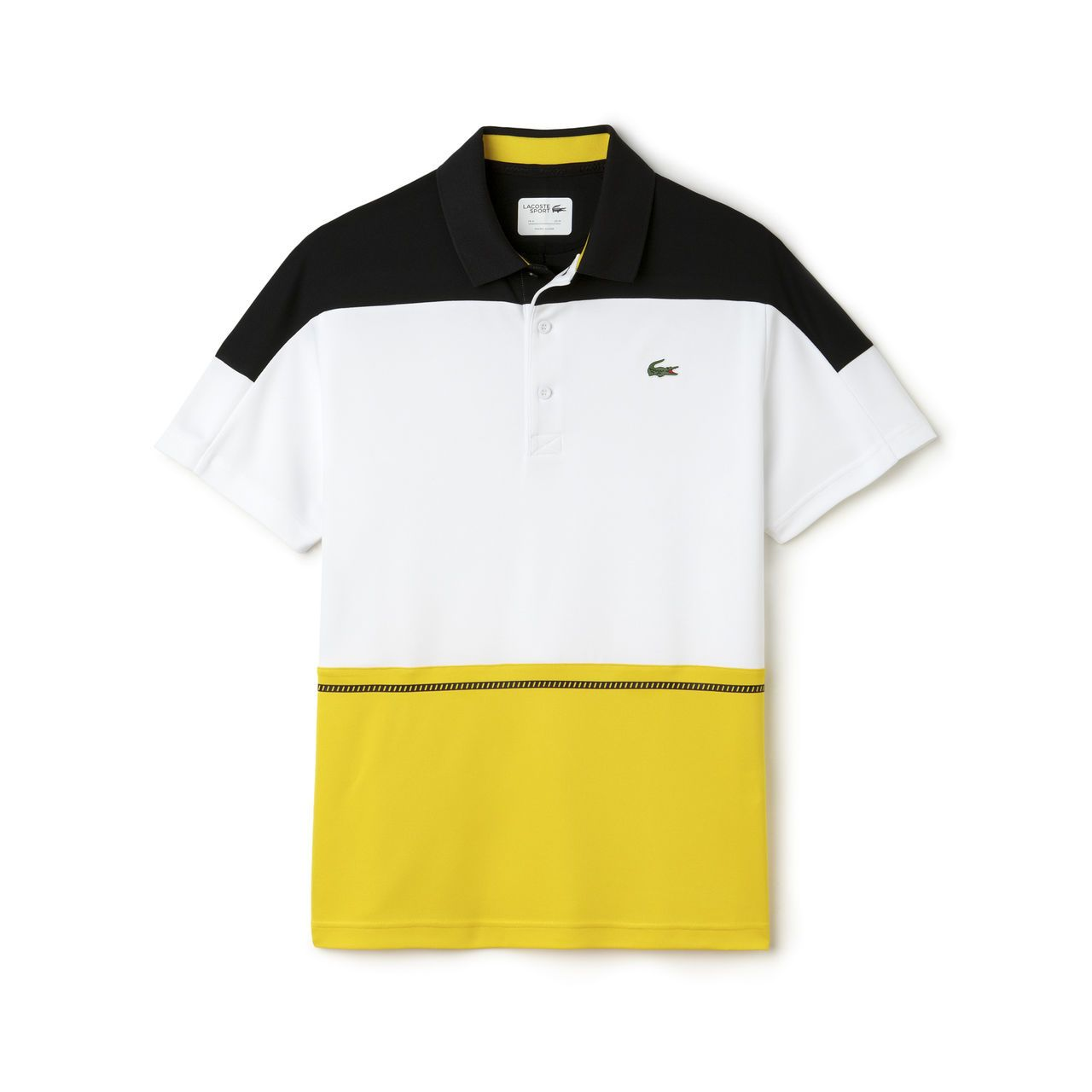 Men S Sport Ultra Dry Color Block Tennis Polo Lacoste Polo Shirts Polo Shirt Design Polo Shirt Style