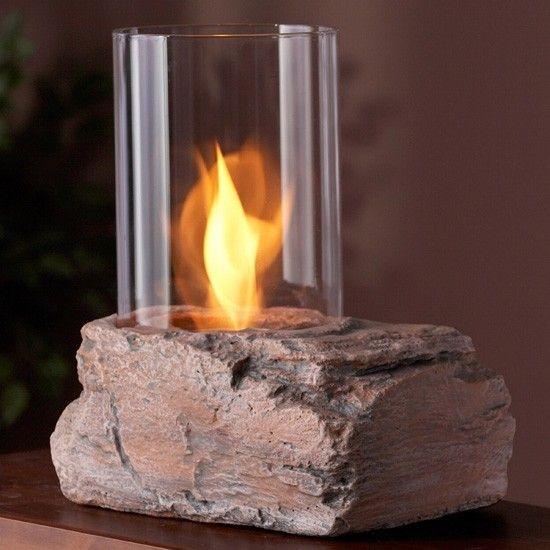Red Rock Gel Tabletop Fireplace